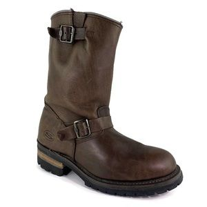 Skechers Leather Distressed Leather Biker Boots